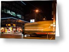 Night Scenery At The Crossroads - Truck Greeting Card