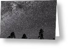 Night Serenity Greeting Card by Nancy Strahinic