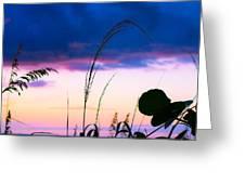 Night Silhouette Greeting Card