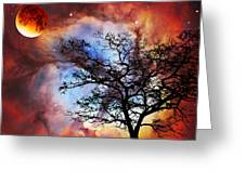 Night Sky Landscape Art By Sharon Cummings Greeting Card