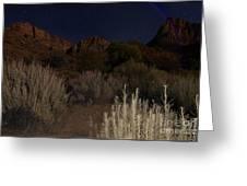 Night Sky Over Zion II Greeting Card