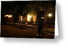Night Station Greeting Card
