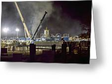 Night Time Frac Greeting Card
