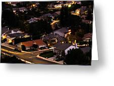 Night Time In The Valley Greeting Card