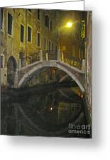 Night Time In Venice Greeting Card