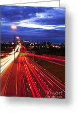 Night Traffic Greeting Card by Elena Elisseeva