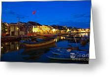 Night View Of Hoi An City Vietnam Greeting Card