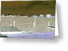 Night View Of Lafitte Bay Dauphin Island Alabama Greeting Card