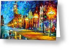 Night Vitebsk Greeting Card