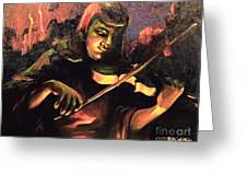 Nightclub Violinist - 1940s Greeting Card