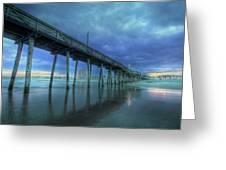 Nightfall At The Pier Greeting Card