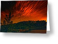 Nightfire Greeting Card
