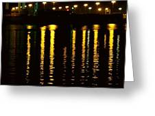 Nightime Reflections Greeting Card