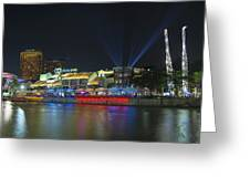 Nightlife At Clarke Quay Singapore Greeting Card