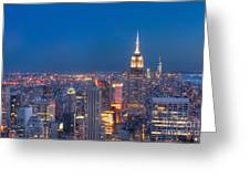 Nightlife Of Nyc Greeting Card