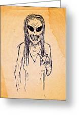 Nightmare Sketch Greeting Card
