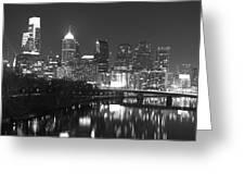 Nighttime In Philadelphia Greeting Card
