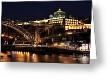 Nighttime In Porto Greeting Card