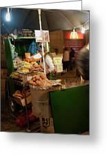 Nighttime Vendor Greeting Card
