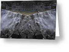 Nighttime Water Tumble Greeting Card