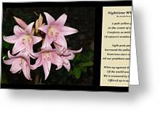 Nighttime Whisper With Poety Greeting Card