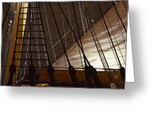 Nightview Sails And Rigging Greeting Card