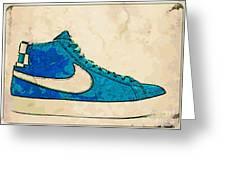 Nike Blazer Turq 2 Greeting Card