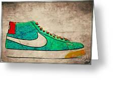 Nike Blazers Greeting Card by Alfie Borg