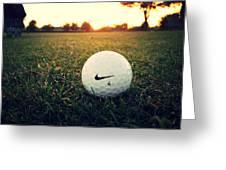 Nike Golf Ball Greeting Card by Derek Goss