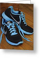Nike Shoes Greeting Card by Nicole Berna