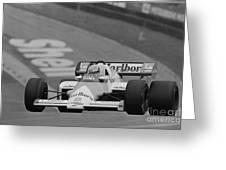Niki Lauda. 1984 British Grand Prix Greeting Card