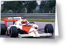 Niki Lauda. 1985 Portuguese Grand Prix Greeting Card