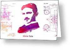 Nikola Tesla Patent Art Apparatus For Aerial Transportation  Greeting Card