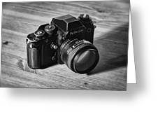 Nikon F3 Greeting Card by Taylan Apukovska