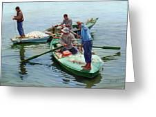 Nile River Fishermen  Greeting Card