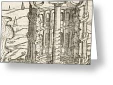 Nilometer In Egypt, 17th-century Artwork Greeting Card