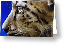 Nina The Snow Leopard Greeting Card