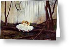 Ninas En El Bosque Greeting Card