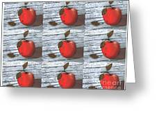Nine Apples Greeting Card