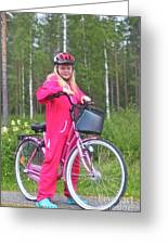 Nine Million Bicycles - Sweden. Greeting Card