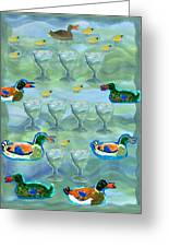 Nine Of Cups Greeting Card