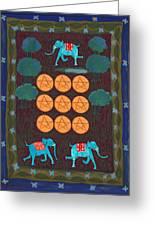 Nine Of Pentacles Greeting Card