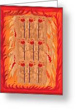 Nine Of Wands Greeting Card