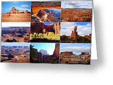 Nine Utah Landmarks Greeting Card by Catherine Sherman