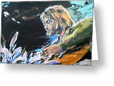 Nirvana - Kurt Cobain Greeting Card
