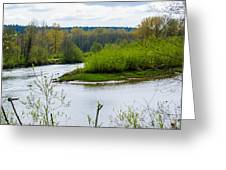 Nisqually River From The Nisqually National Wildlife Refuge Greeting Card