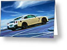 Nissan Gt-r  Greeting Card