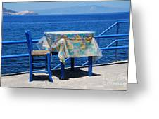 Nisyros Taverna Greeting Card
