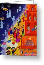 Nite And Day Procession Greeting Card