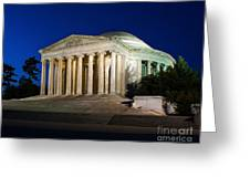 Nite At The Jefferson Memorial Greeting Card